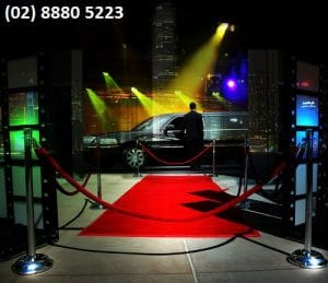 Red carpet leading towards a Sydney Limo